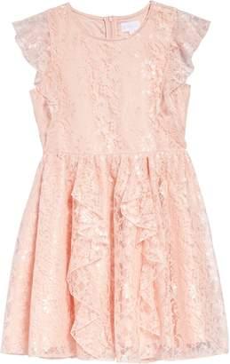 BCBGMAXAZRIA Ruffle Lace Dress