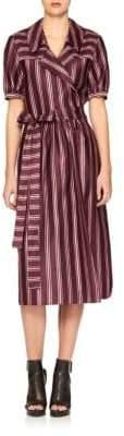 Burberry Panama Stripe Cotton & Silk Dress