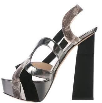 Aperlaï Karung Slingback Sandals