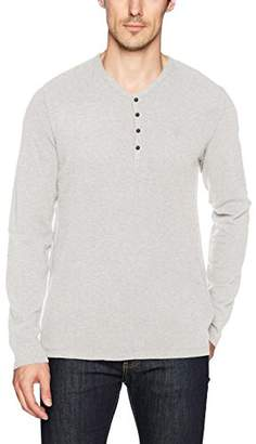 Calvin Klein Jeans Men's Long Sleeve Waffle Layer Y-Neck Henley