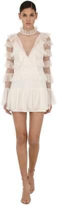 Alice McCall The Zen Ruffled Tulle Mini Dress
