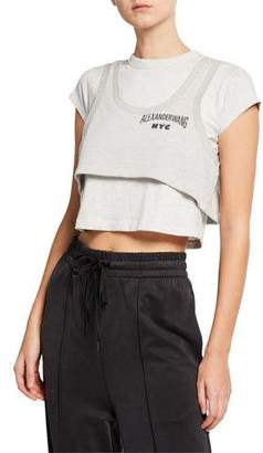 Alexander Wang Lightweight Terry Layered Crop Top