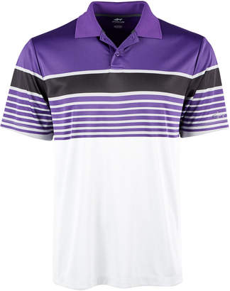 Greg Norman Attack Life by Men Jalen Regular-Fit Performance Stretch PlayDry Moisture-Wicking Stripe Polo