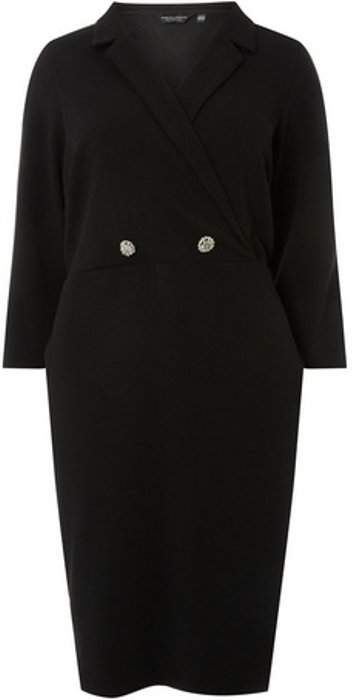 Womens **DP Curve Black Button Blazer Dress