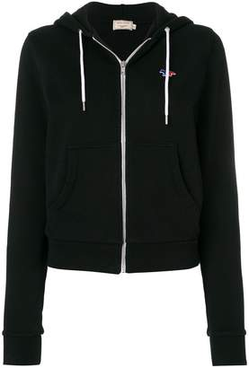 MAISON KITSUNÉ zipped drawstring hoodie