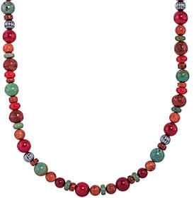 American WestSterling Orange & Green Bead Necklace byAmerican West
