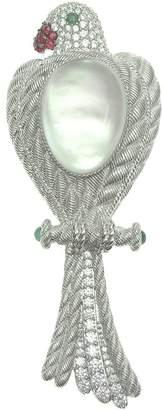 Judith Ripka Sterling Multi-Gemstone Bird Enhancer/Pin