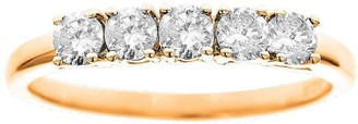 Affinity Diamond Jewelry 5-Stone Band Diamond Ring, 14K Yellow Gold 1/2ct by Affinity