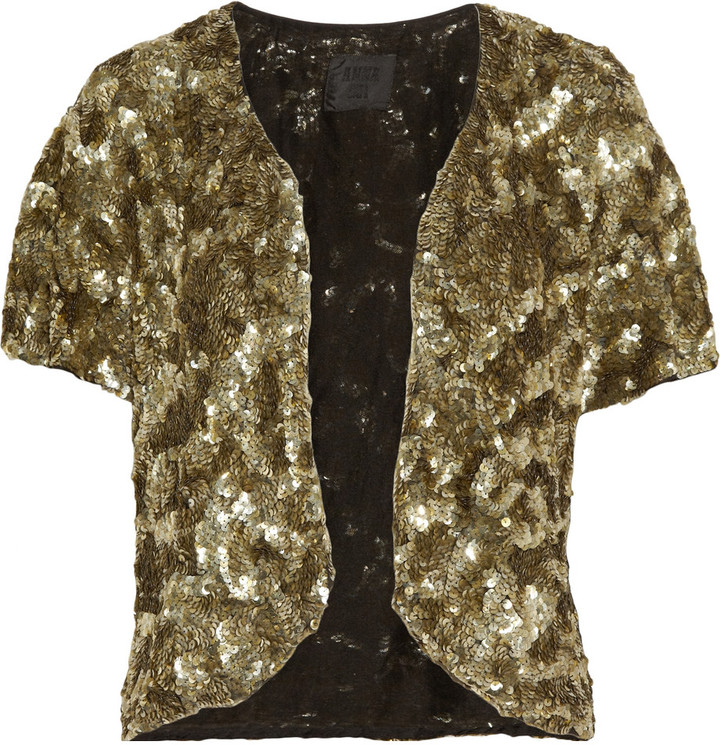 Anna Sui Sequined jacket