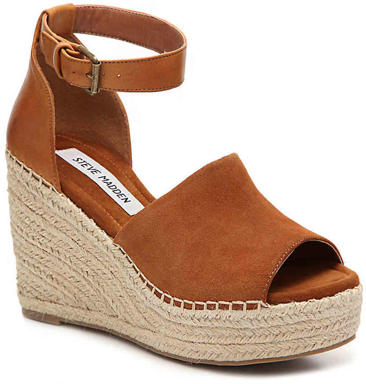 Women's Jaylen Wedge Sandal -Taupe Leather/Suede