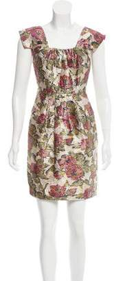 Magaschoni Brocade Mini Dress