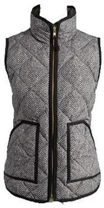 Goodnight Macaroon 'Jane' Herringbone Puffer Vest