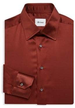 Brioni Stretch-Silk Dress Shirt