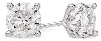 2 Carat Diamond Stud 14K White Gold Earrings