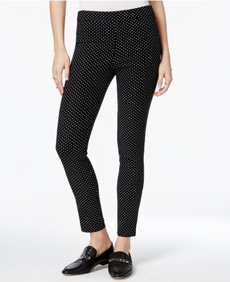 Maison Jules Polka-Dot-Print Skinny Pants, Only at Macy's $49.50 thestylecure.com