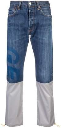 Geo reconstructed denim jeans