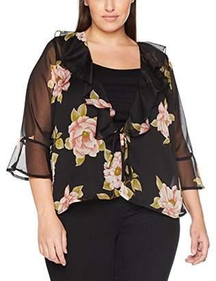 New Look Curves Women's 5346502 Cardigan, (Black Pattern)