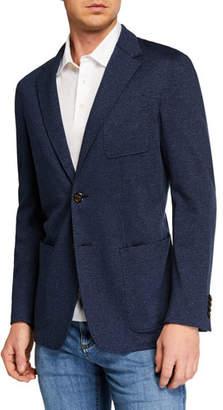 Canali Men's Herringbone Knit Sportcoat