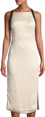 Jason Wu Satin Cloque Sleeveless Cocktail Dress