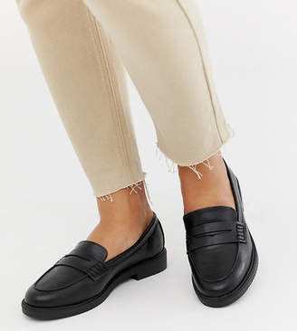 e36bd5fb2f6 New Look Wide Fit loafers in black