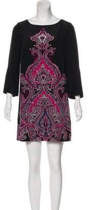 Tibi Panel Print Dress