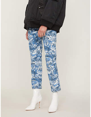 Off-White Tapestry straight high-rise jeans