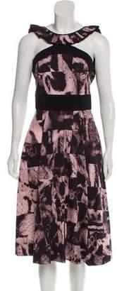 Giles Printed Midi Dress w/ Tags