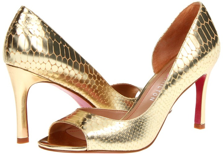 Paris Hilton Blayne (Gold Metallic Croco) - Footwear