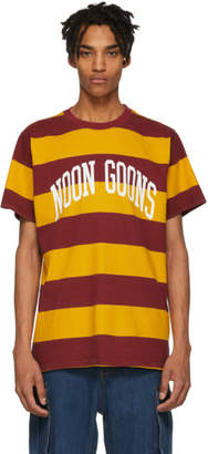 Noon Goons Yellow and Burgundy Big Stripe T-Shirt