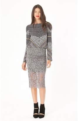Hale Bob Kenley Lace Skirt