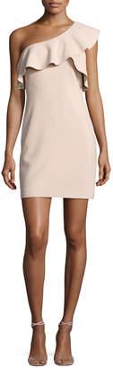 Elizabeth and James Jerard One-Shoulder Ruffle Ponte Dress