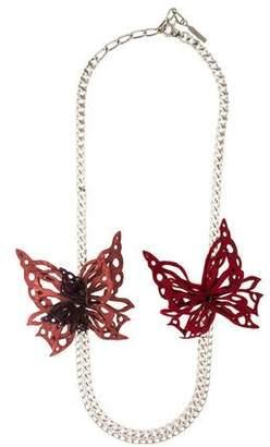 Philosophy di Alberta Ferretti Leather & Chain Necklace