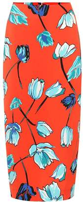 Diane von Furstenberg Floral crepe pencil skirt