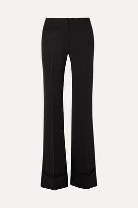Stella McCartney High-rise Wool Flared Pants - Black