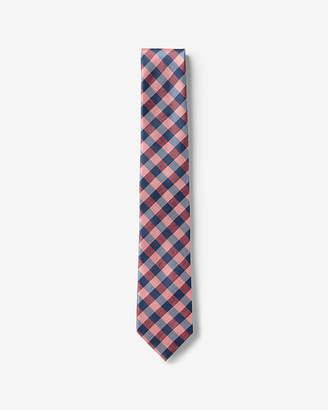 Express Narrow Checkered Silk Tie