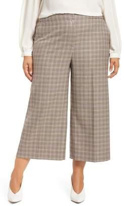 Halogen Plaid Wide Leg Crop Pants