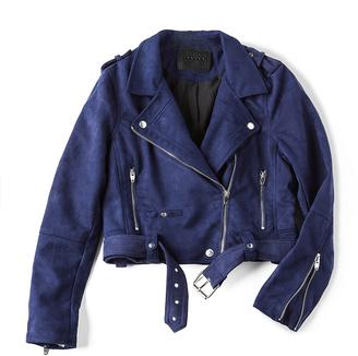 BLANKNYC Moto Suede Jacket $98 thestylecure.com