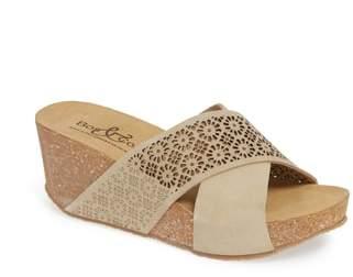 Bos. & Co. Lomi Platform Wedge Slide Sandal