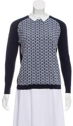 Tory Burch Collard Long-Sleeve Sweater