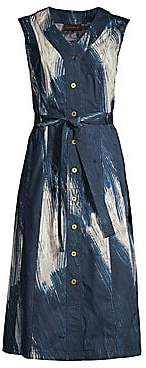 Donna Karan Women's Sleeveless Printed Midi Dress