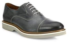 Saks Fifth Avenue COLLECTION Burnished Cap Toe Leather Oxfords