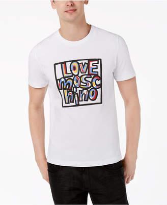 Love Moschino Men's Graffiti-Style T-Shirt