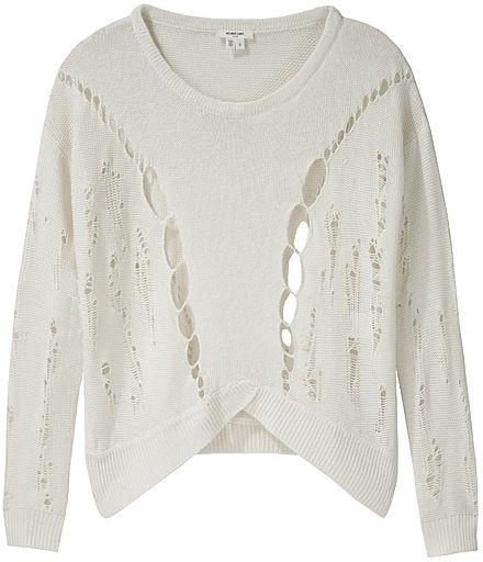 Helmut Lang Linen Crop Sweater