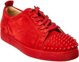 7922dcb56121 Christian Louboutin Louis Junior Spikes Suede Sneaker