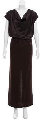 St. John Embellished Evening Dress