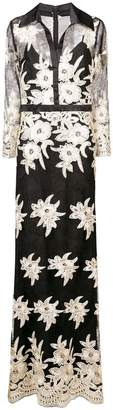 Badgley Mischka floral pattern long dress