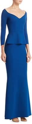Chiara Boni Women's Quarter-Sleeve Formal Gown