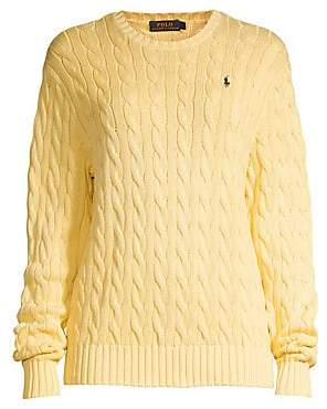 5feb4ecb6d5a69 Polo Ralph Lauren Women's Cotton Cable-Knit Sweater