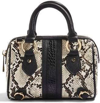 22f9867f5459 Topshop Faux Snakeskin Bowler Bag