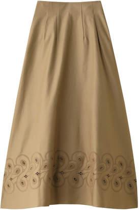 ユニオンランチ 刺繍フレアロングスカート